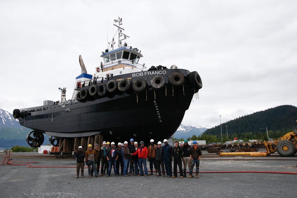 Marine Painting and Sandblasting Crew for Marine Coatings in Seward, Alaska, JAG Alaska